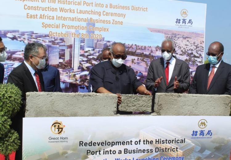 Redevelopment of the historical port into a Business district: The launching ceremony