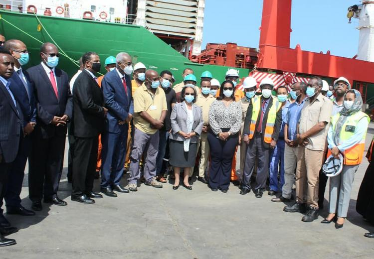 The President of the Federal Democratic Republic of Ethiopia, HE Mrs. Sahle-Work Zewde visits our port infrastructure.