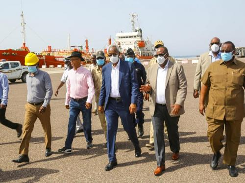 The President of Puntland visited the Port of Tadjourah