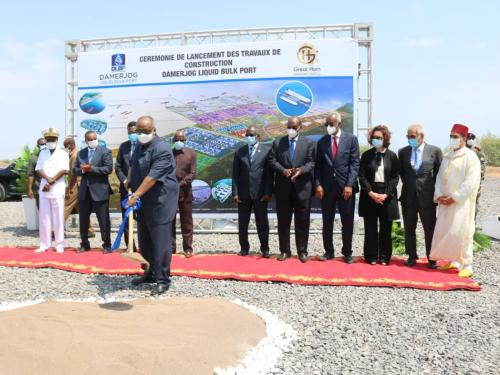 The ceremony of launching Damerjog Liquid Bulk Port Construction